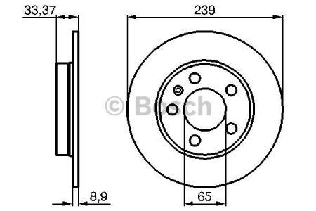 0986478481 BOSCH Тормозной диск на AUDI