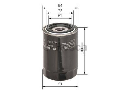 0451203218 BOSCH Масляный фильтр на PORSCHE