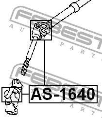FEBEST FEAS1640 КРЕСТОВИНА РУЛЕВАЯ 16x40 (TOYOTA LAND CRUISER PRADO 120 GRJ12#/KDJ12#/RZJ12#/TRJ12#/VZJ12# 2002-2009 купить недорого