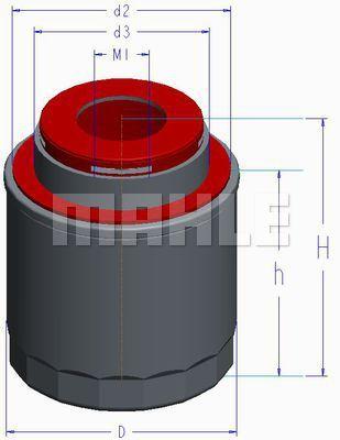 OC5934 KNECHT Масляный фильтр для SKODA RAPID