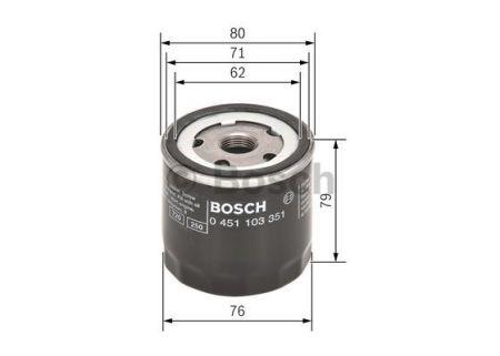 0451103351 BOSCH Масляный фильтр на FIAT