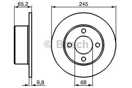 0986478073 BOSCH Тормозной диск на AUDI