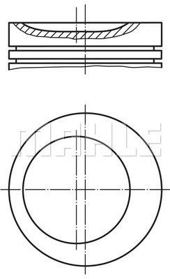 MAHLE MAH0117500 Поршень в комплекте на 1 цилиндр, STD заказать по низкой цене