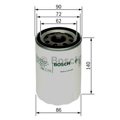 0451103347 BOSCH Масляный фильтр для VW GOLF