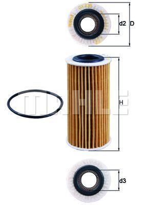 OX835D KNECHT Масляный фильтр для VW ATLAS