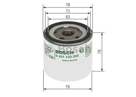 0451103298 BOSCH Масляный фильтр для SKODA RAPID