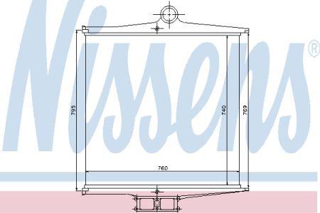 NISSENS NIS96910 Интеркулер VOLVO F10(85-)280 HP(+)[OE 15 42 735] Купить недорого