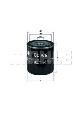 OC976 KNECHT Масляный фильтр для PEUGEOT 301