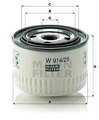 MANN MFW91425 Масляный фильтр Купить недорого