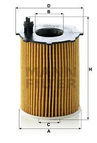 MFHU7162X MANN Масляный фильтр на GAZ