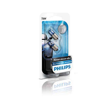 PHILIPS PHI12929BVB2 Автомобильная лампа: 12 [В] (к-кт 2 шт) T4W BlueVision 4W цоколь BA9s Blister купить недорого
