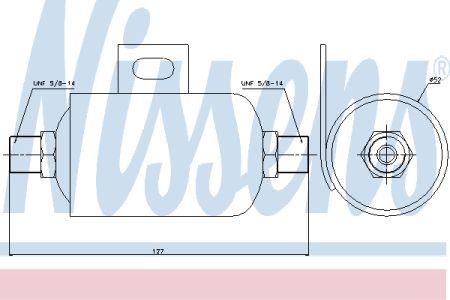 NISSENS NIS95343 Осушитель DAF XF 95(97-)380(+)[OE 1321891] купить недорого