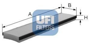 UFI 5301600 Фильтр, воздух во внутренном пространстве Купить недорого