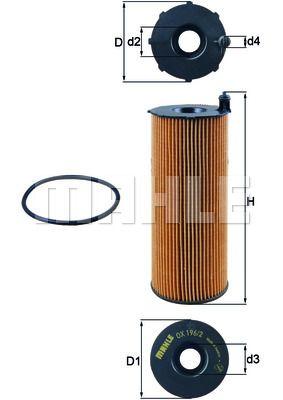 OX1961D KNECHT Масляный фильтр для AUDI Q7