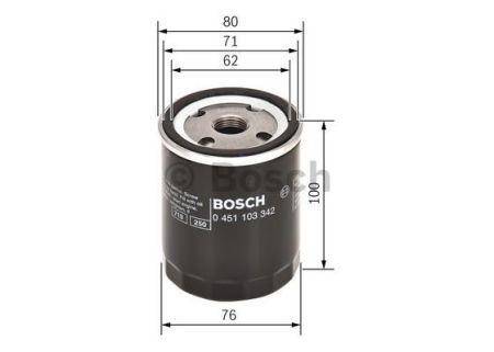 0451103350 BOSCH Масляный фильтр на FIAT