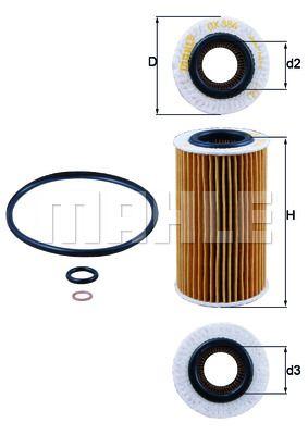 OX384D KNECHT Масляный фильтр для KIA CERATO