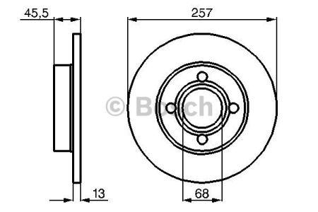 0986478016 BOSCH Тормозной диск на AUDI