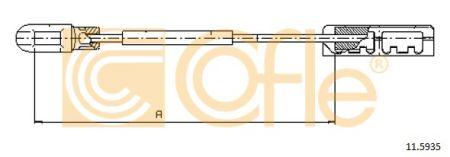 COFLE COF115935 Трос стояночного тормоза Купить недорого