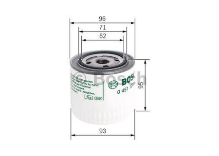0451103260 BOSCH Масляный фильтр на OPEL