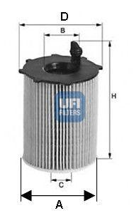 2503700 UFI Масляный фильтр для FORD FOCUS