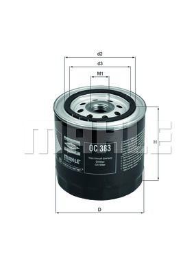 OC383 KNECHT Масляный фильтр на GAZ