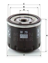 MFW79 MANN Масляный фильтр для RENAULT LOGAN