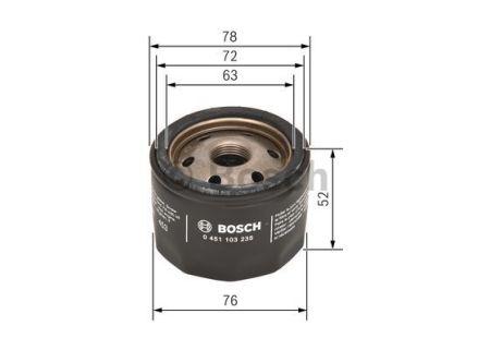 0451103235 BOSCH Масляный фильтр на RENAULT