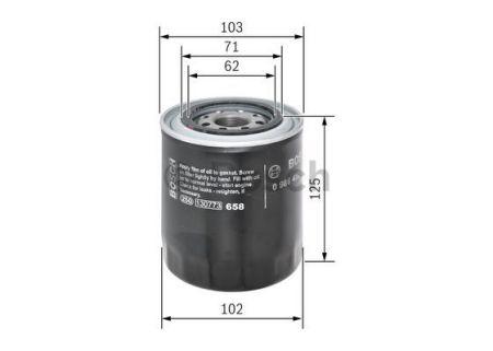 0986452066 BOSCH Масляный фильтр для HYUNDAI H100