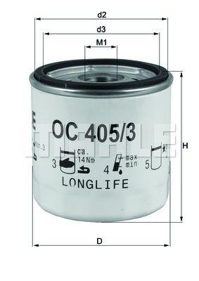 OC4053 KNECHT Масляный фильтр для CHEVROLET LACETTI