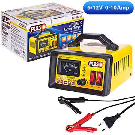 ELIT UNIBC12610 Зарядное устр-во PULSO BC-12610 6-12V/0-10A/10-120AHR/LED-Ампер./Ручная рег-ка Купить недорого
