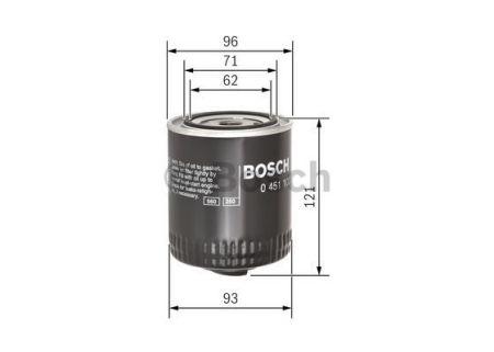 0451103028 BOSCH Масляный фильтр на LANCIA