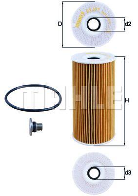 OX377D KNECHT Масляный фильтр для HYUNDAI TUCSON