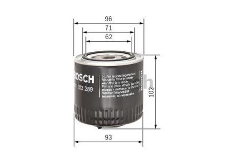 0451103289 BOSCH Масляный фильтр на SKODA