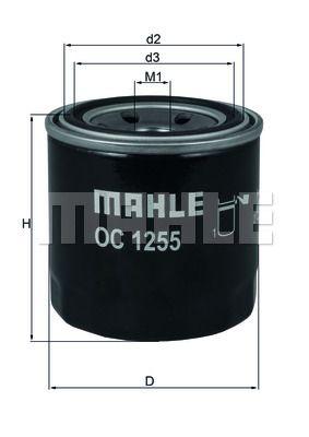 OC1255 KNECHT Масляный фильтр для HYUNDAI VELOSTER