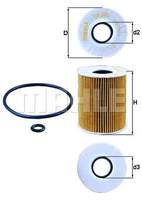 KNECHT OX203D Масляный фильтр купить недорого