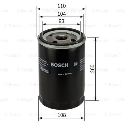 0451300003 BOSCH Масляный фильтр на RENAULT