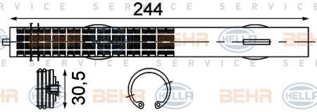 HELLA 8FT351192761 Осушувач кондицiонера купить недорого
