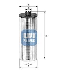 2514400 UFI Масляный фильтр для SKODA SCALA