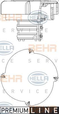 HELLA 8MY376743431 Радiатор купить недорого