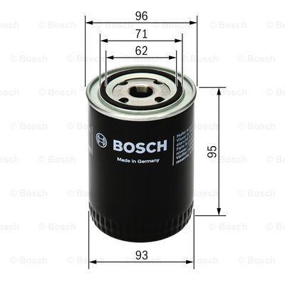 0451203154 BOSCH Масляный фильтр на PORSCHE