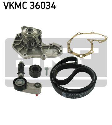 SKF VKMC36034 Водяной насос + комплект ручейковых ремней купить недорого