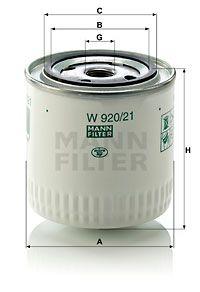 MFW92021 MANN Масляный фильтр на GAZ