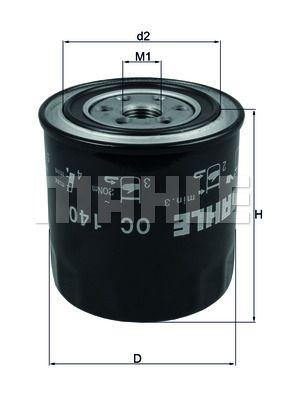 OC140 KNECHT Масляный фильтр на LDV