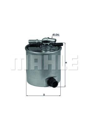 KNECHT KL44015 Топливный фильтр купить недорого