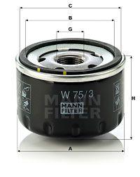 MFW753 MANN Масляный фильтр для RENAULT LOGAN