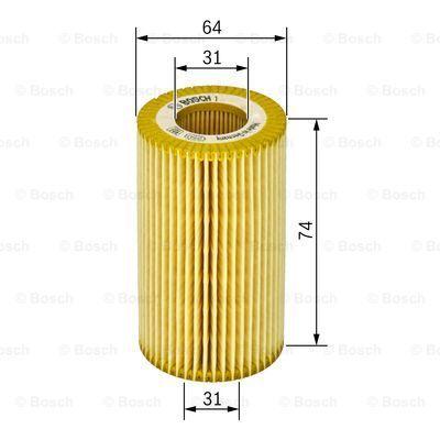 1457429248 BOSCH Масляный фильтр для OPEL ASTRA