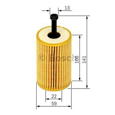 1457429193 BOSCH Масляный фильтр на PEUGEOT