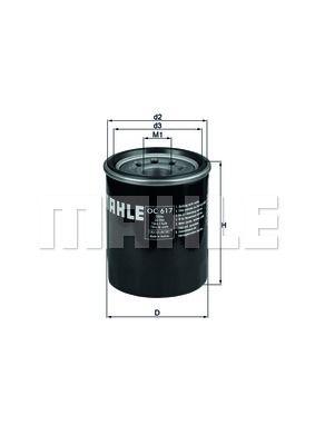 OC617 KNECHT Масляный фильтр для HONDA CR-V