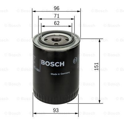 0451203012 BOSCH Масляный фильтр на AUDI