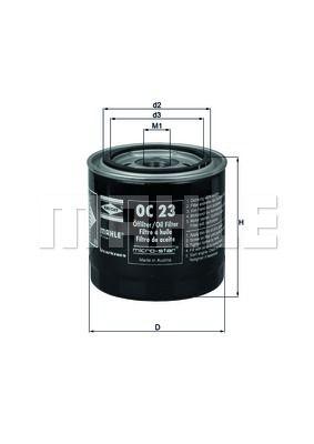 OC23 KNECHT Масляный фильтр на DAIHATSU
